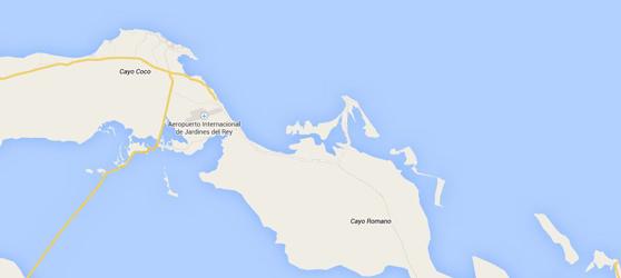 Cayo Romano Cuba Map